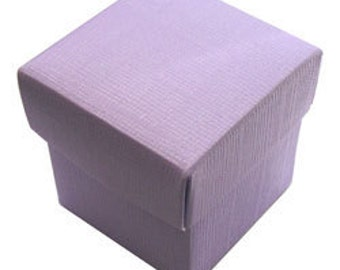 Sale! Lilac Favor Boxes, 2 inch, 50 pieces