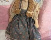 Vintage  Prairee TEA Rag Doll. Handcrafted in N.C. 1987 Collectible