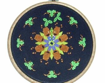 Blackbeary Jam counted cross stitch wall piece