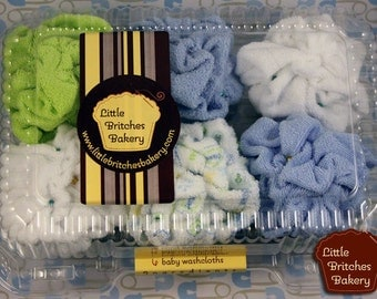 It's a boy: six pack of onesie cupcakes, baby shower and new parent gift