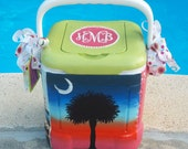 Custom Painted Cooler - Small Personal Size (12 qt.)