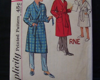 1960s Boys Robe Simplicity 4740 Pattern