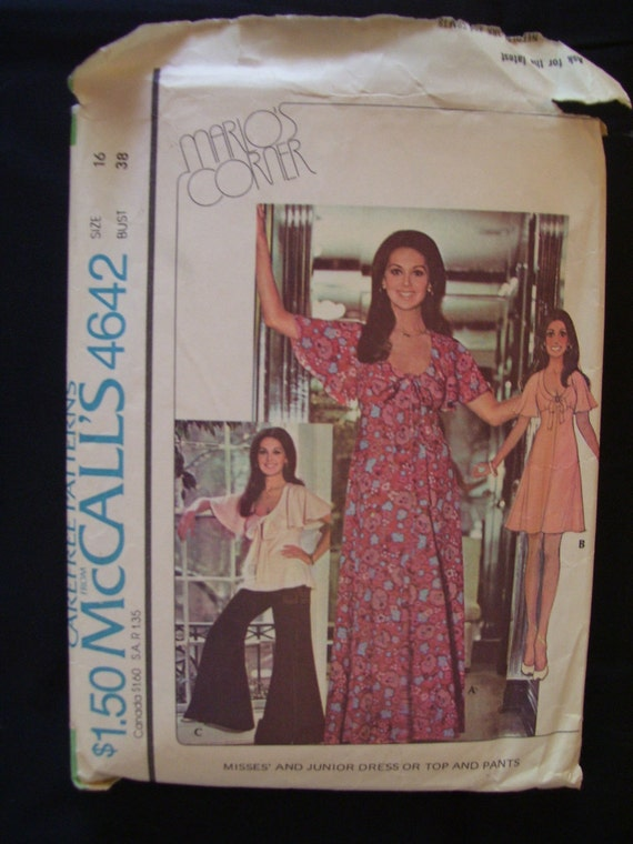 1975 McCall's 4642 Dress top and Pants Pattern