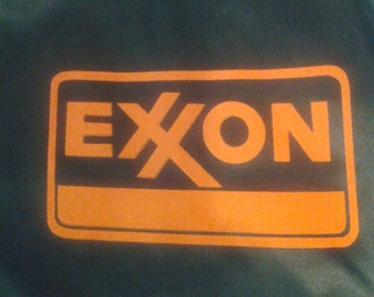 Vtg Exxon blue satin jacket new