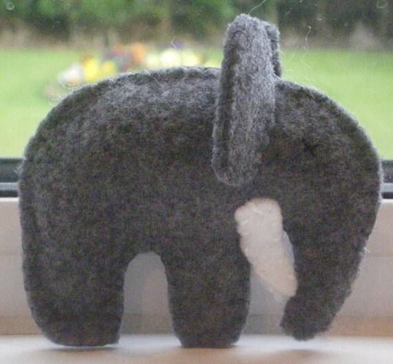 Hand-made Felt Stuffed Elephant