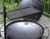 Firepan Outdoor Fire Pit, Movable, Portable, Wood burning Deck or Patio, Steel Fireplace & Grill