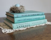 Teal Blue Book Collection, Flowers, Tree, Landscape, Garden, Wedding, Cottage Chic