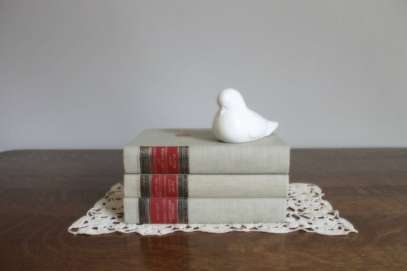 Literature Book Collection, Grey, Tan, Red, Black, Gold, Wedding, Cottage Chic