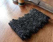 Black Guipure Lace 1 metre (1.09 yards)