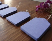 50 x Blue Lilac Tags - Craft Tags / Price Tags / Gift Tags