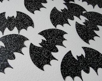 Halloween Party Decorations Halloween Bat Die Cut Tag Glitter Black Bat Halloween Cut Outs Halloween Decoration Tag Embellishment, Set of 12