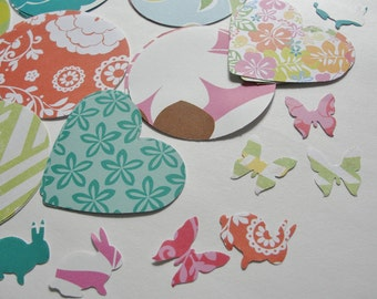 Assorted Colorful Summer Paper Cut Outs, for Crafts, Scrapbooking, Tags, Emebellishments, Kid's Crafts, Children's Crafts, Set of 51