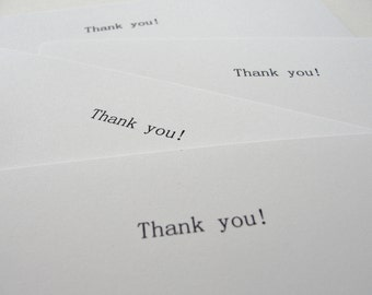 Thank You Notes, Simple Black and White Printed Thank You Cards for Shop Owners, Thank You Postcards, Set of 12
