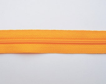 Pumpkin Colored Zippers - YKK Brand - 25 Pieces - 12 inch