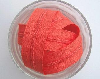 Peach Zippers - YKK Brand - 10 Pieces - 12 inch
