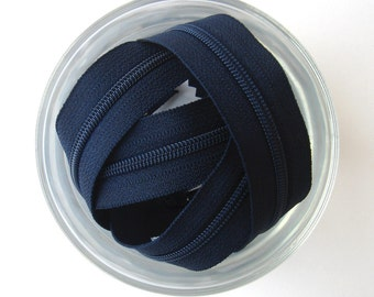 Navy Blue Zippers - YKK Brand - 25 Pieces - 9 inch