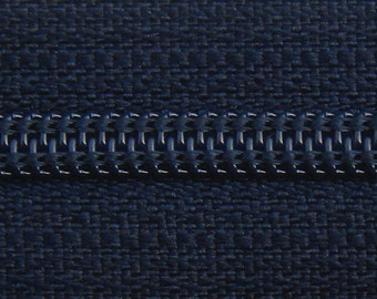 Zippers - Navy Blue - 9 inch zippers - YKK Brand - 10 Pieces