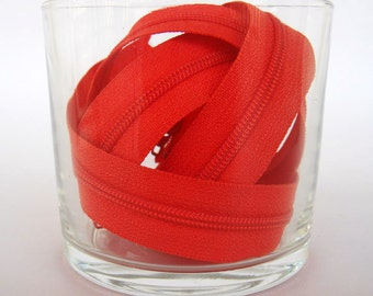 Zippers - Tomato - YKK Zippers - 10 Pieces - 8 inch