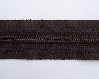 Zippers - Dark Brown - YKK Zippers - 10 Pieces - 7 inch