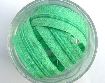 Zippers - Mint  - YKK Brand - 10 Pieces - 8 inch