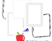 Embellished Frames - Digital Borders - Clip Art for Teachers