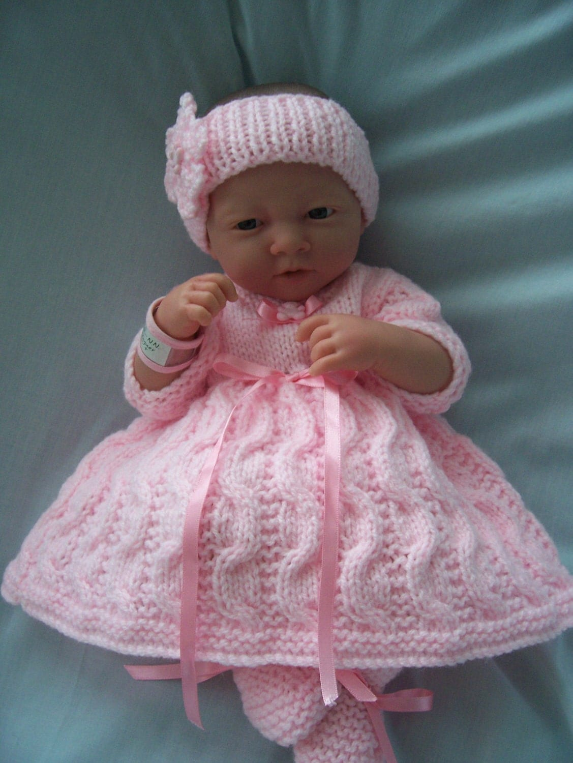 Hand Knitted Dolls Clothes Set