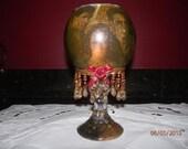 Twilight,New moon, Tea light candle holder,votive holder,