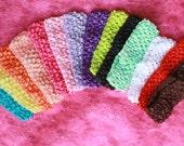 Set of 10 Crochet Baby Headbands