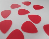 10 Pack of Red  .65mm Handcrafted Guitar Picks