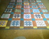 Hand Quilt Throw/ twin