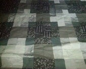 hand quilted 60x80 cotton quilt