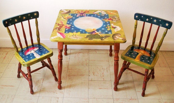 CHILD'S TABLE & CHAIRS - Fairy Parade