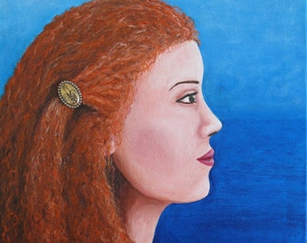 "Original oil painting ""Irish Woman"" (18""x24"")"