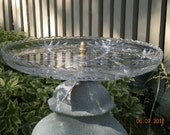 Upcycled Birdbath or Plant Stand for your home or garden