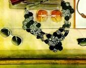 Vintage Lanvin Beaded Embroidered Bib/Necklace