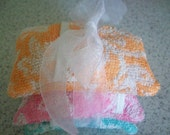 Soap Pouch - Set of Three Terry Cloth Soap Pouches