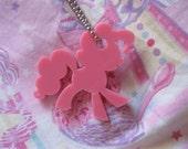 Pinkie Pie My Little Pony Necklace Keychain Charm