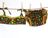 Pop Bikini- GRN/YLW Floral for customer April G.