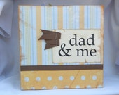Dad & Me-Father's Day-Orange and Blue Cardstock Accordian Style Album-Ready to Ship-Add your own pictures-Additional Embellishments Included