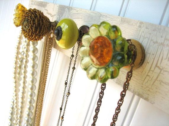 "Necklace Holder ""Hello Yellow"" Jewelry Rack"