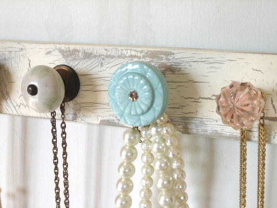 Jewelry Hanger with Sea Shore Inspired Colors