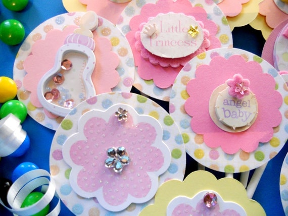 Little Princess Cupcake Toppers Set Of 50  Custom Order