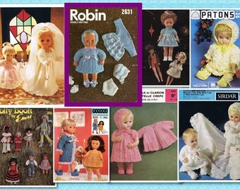 200 plus Vintage DOLL PATTERNS - Crochet & Knitting