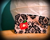 Sherlock - IOU embroidered pencil/make-up pouch