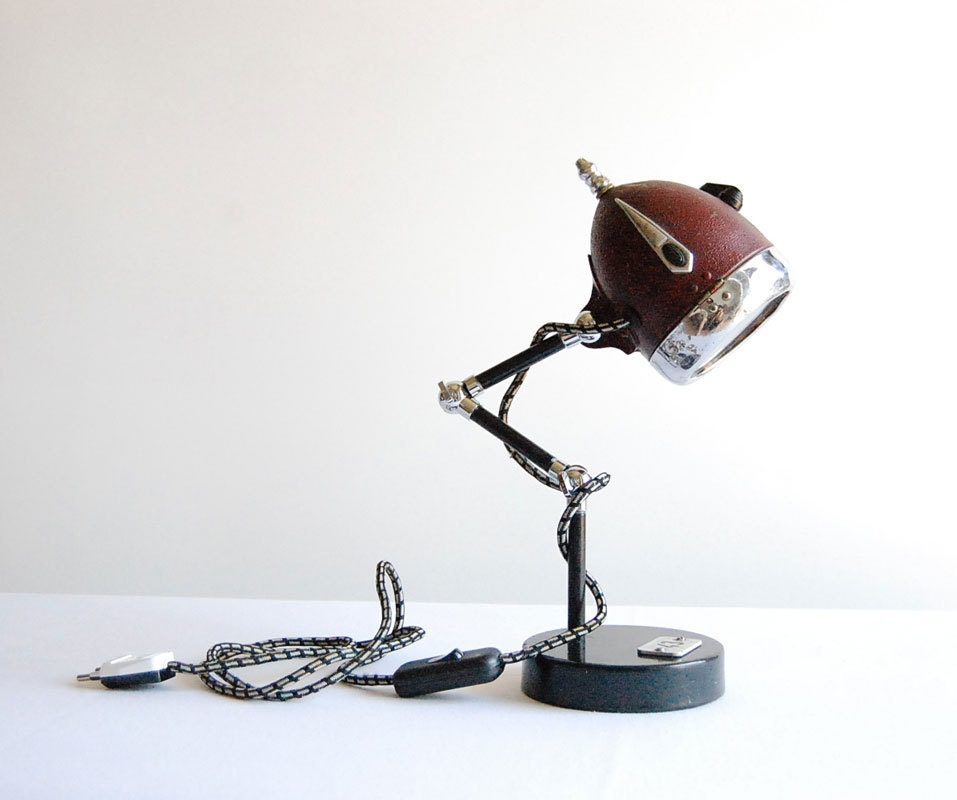 Hobbit Handcrafted Vintage Industrial Desk Lamp