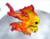 SALE Elegant Fiery Fish - Cutefish Charms Miniature Polymer Clay Figurine