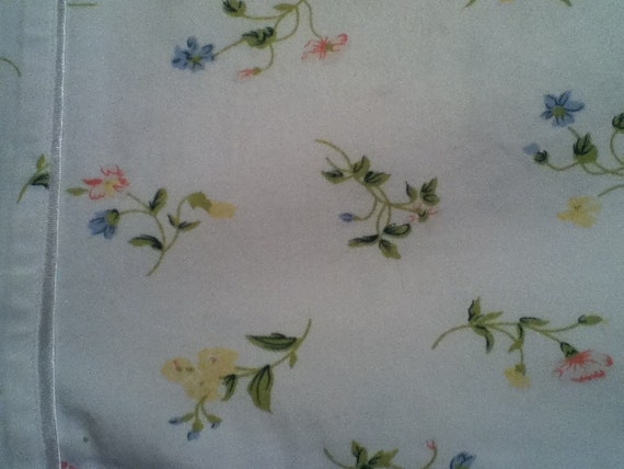 Vintage Floral Pillowcase in  Standard Size