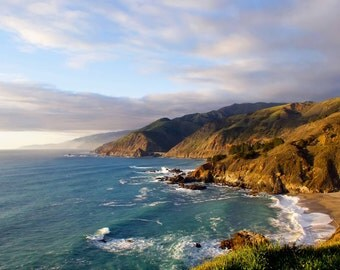 Golden Coastline - Big Sur, California Photo Greeting Card