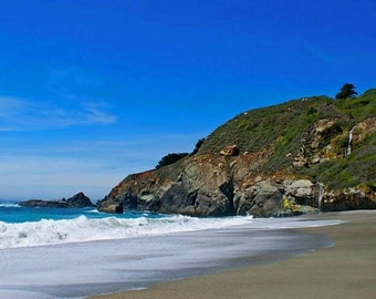 On Potters Beach  - Big Sur, California Photo Greeting Card