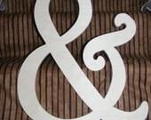 "18"" diy wooden ampersand, alphabet letters, diy, engagement, wedding decor, photography props, wedding, birthday, decor, baby, bridal shower"
